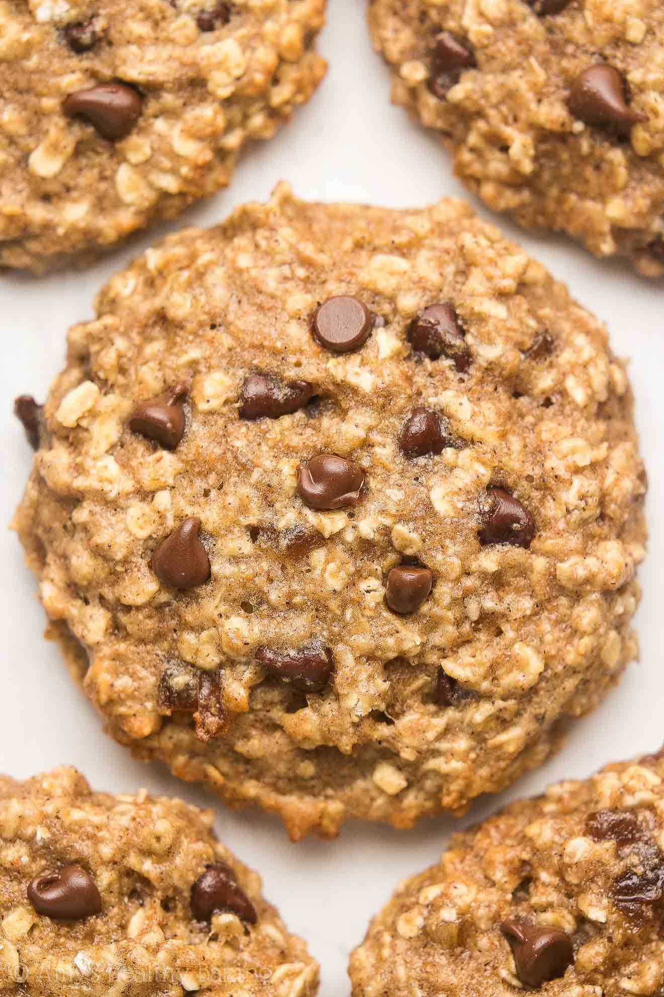 Choc Chip Oatmeal Cookies Healthy  Healthy Caramel Chocolate Chip Oatmeal Cookies