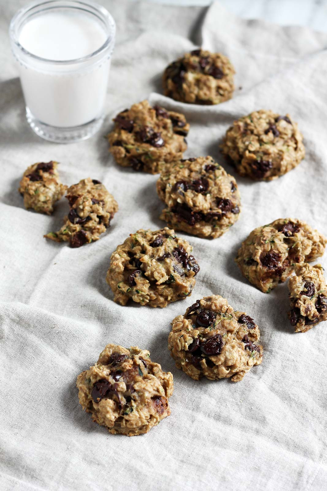 Choc Chip Oatmeal Cookies Healthy  Healthy Chocolate Chip Zucchini Oatmeal Cookies