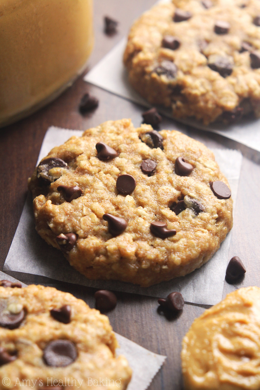 Choc Chip Oatmeal Cookies Healthy  Chocolate Chip Peanut Butter Oatmeal Cookies Recipe Video