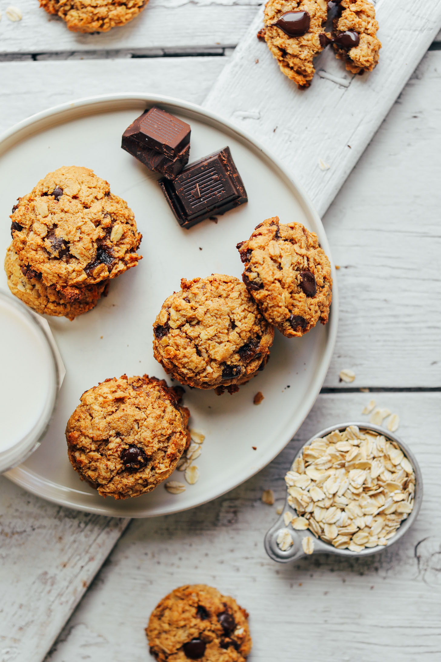 Choc Chip Oatmeal Cookies Healthy  Gluten Free Oatmeal Chocolate Chip Cookies