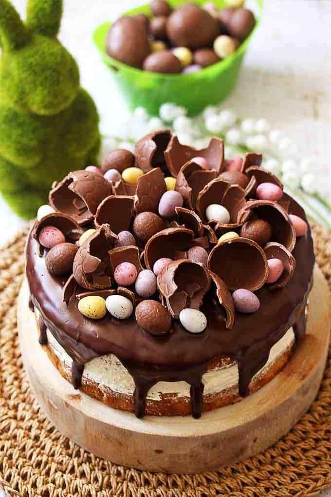 Chocolate Easter Cake  Hazelnut Easter Cake