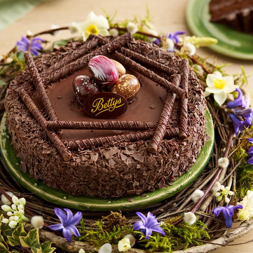 Chocolate Easter Cake  Chocolate Easter Nest Cake