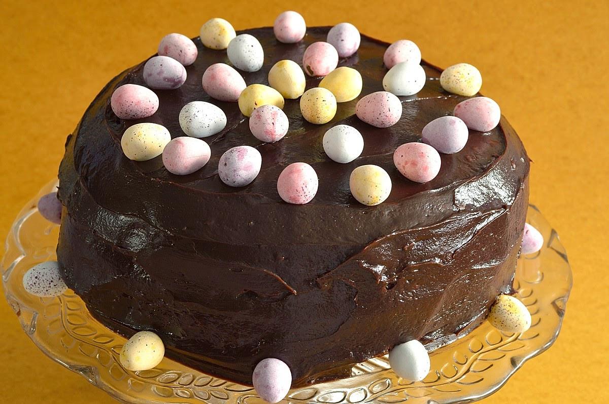 Chocolate Easter Cake  Chocolate Almond Easter Cake
