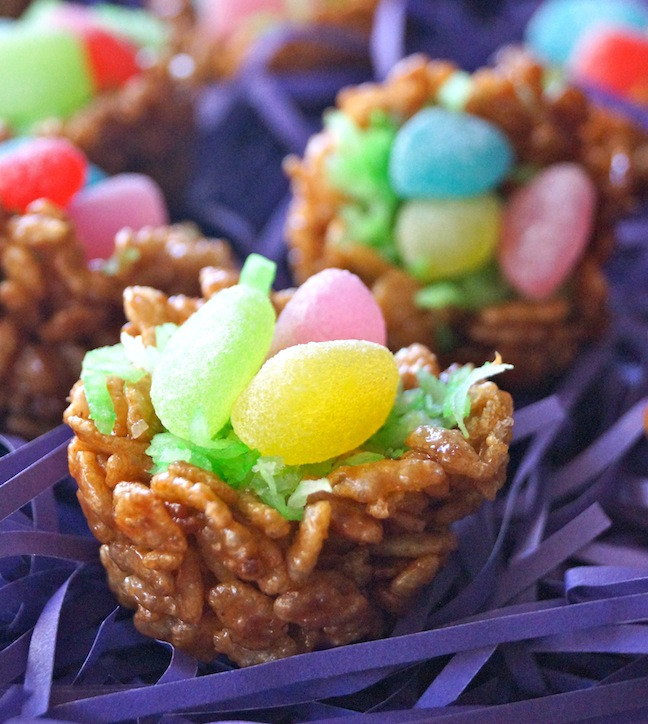 Chocolate Easter Desserts Recipe  Easter Dessert Recipe Chocolate Rice Krispies Treats Nests