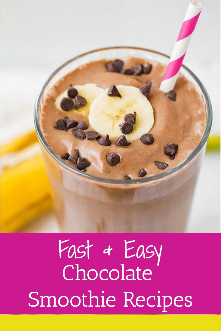Chocolate Smoothie Recipes For Weight Loss  14 Fast & Easy Chocolate Smoothie Recipes