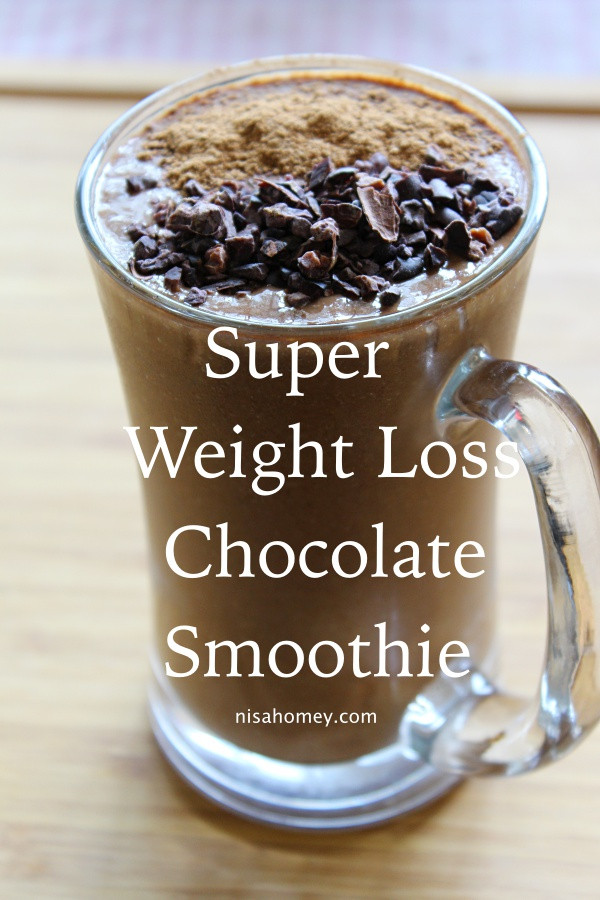 Chocolate Smoothie Recipes For Weight Loss  Super Weight Loss Chocolate Smoothie