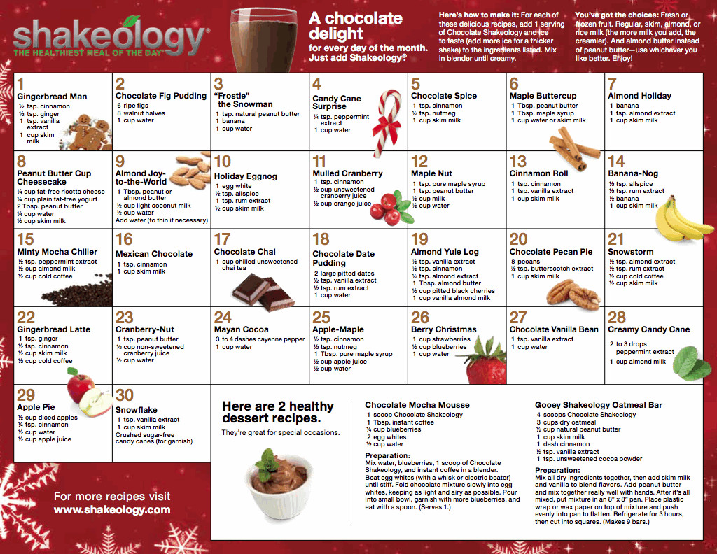Chocolate Vegan Shakeology Recipes  Shakeology Recipes What s The Most Delicious Recipes