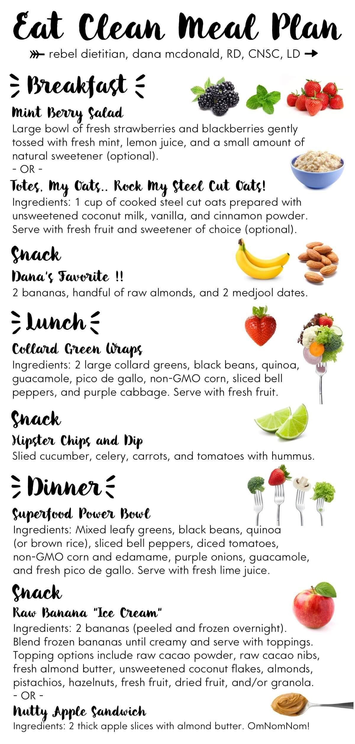 Clean Eating Weight Loss Plan  Eat Clean Meal Plan rebelDIETITIAN US