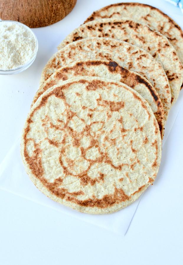 Coconut Flour Bread Vegan  Coconut flour flatbread Vegan Keto Paleo Sweetashoney