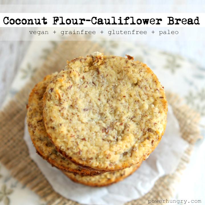 Coconut Flour Bread Vegan  Coconut Flour Cauliflower Bread vegan grainfree
