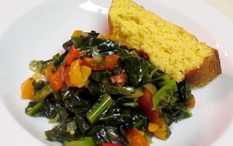 Collard Greens Vegetarian Recipes  Ve arian Collard Greens By foodfirst