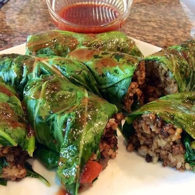 Collard Greens Vegetarian Recipes  Vegan Soul Food Marinated and Stuffed Collard Greens