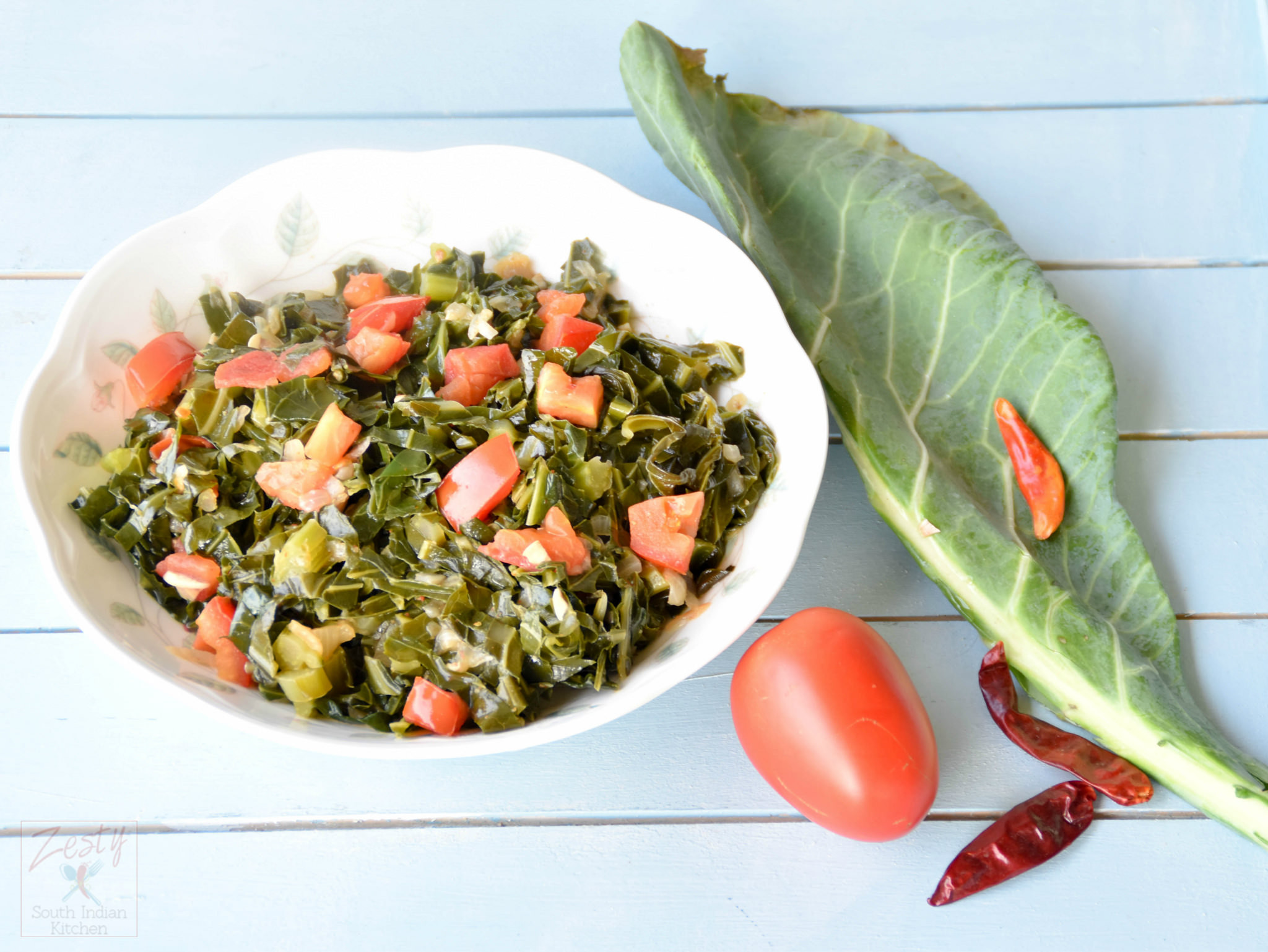 Collard Greens Vegetarian Recipes  Southern Style Ve arian Collard Greens Zesty South