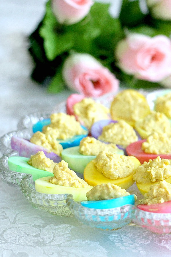 Colored Deviled Eggs For Easter  Colored Deviled Eggs for Easter