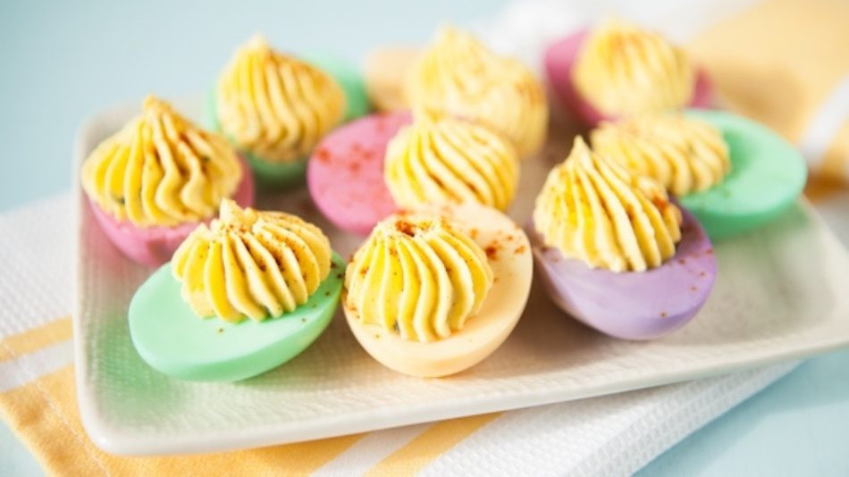Colored Easter Deviled Eggs  The 12 Easy Deviled Egg Recipes to Use with Leftover