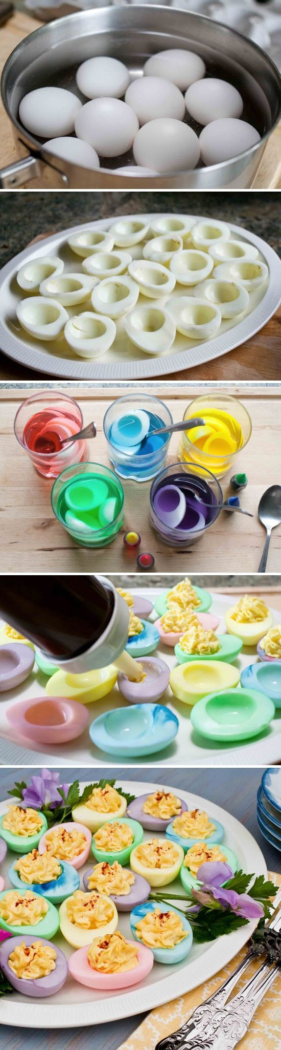 Colored Easter Deviled Eggs  Colorful Deviled Eggs