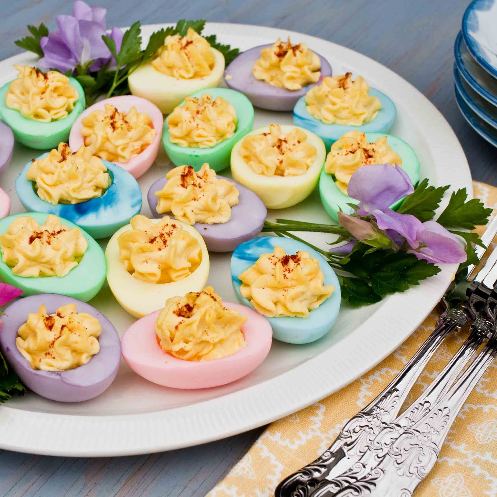 Colored Easter Deviled Eggs  For the Love of Food Colored Deviled Eggs