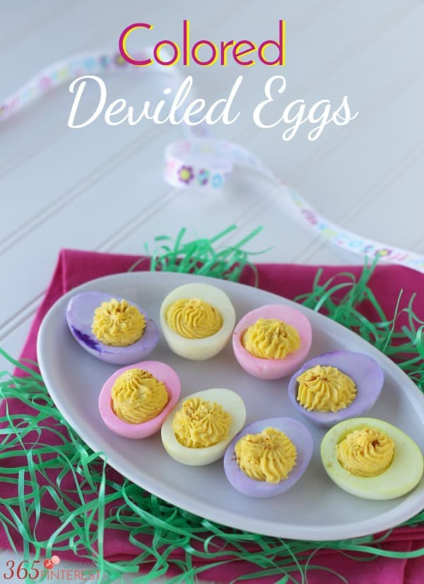 Colored Easter Deviled Eggs  Colored Deviled Eggs for Easter Simple and Seasonal