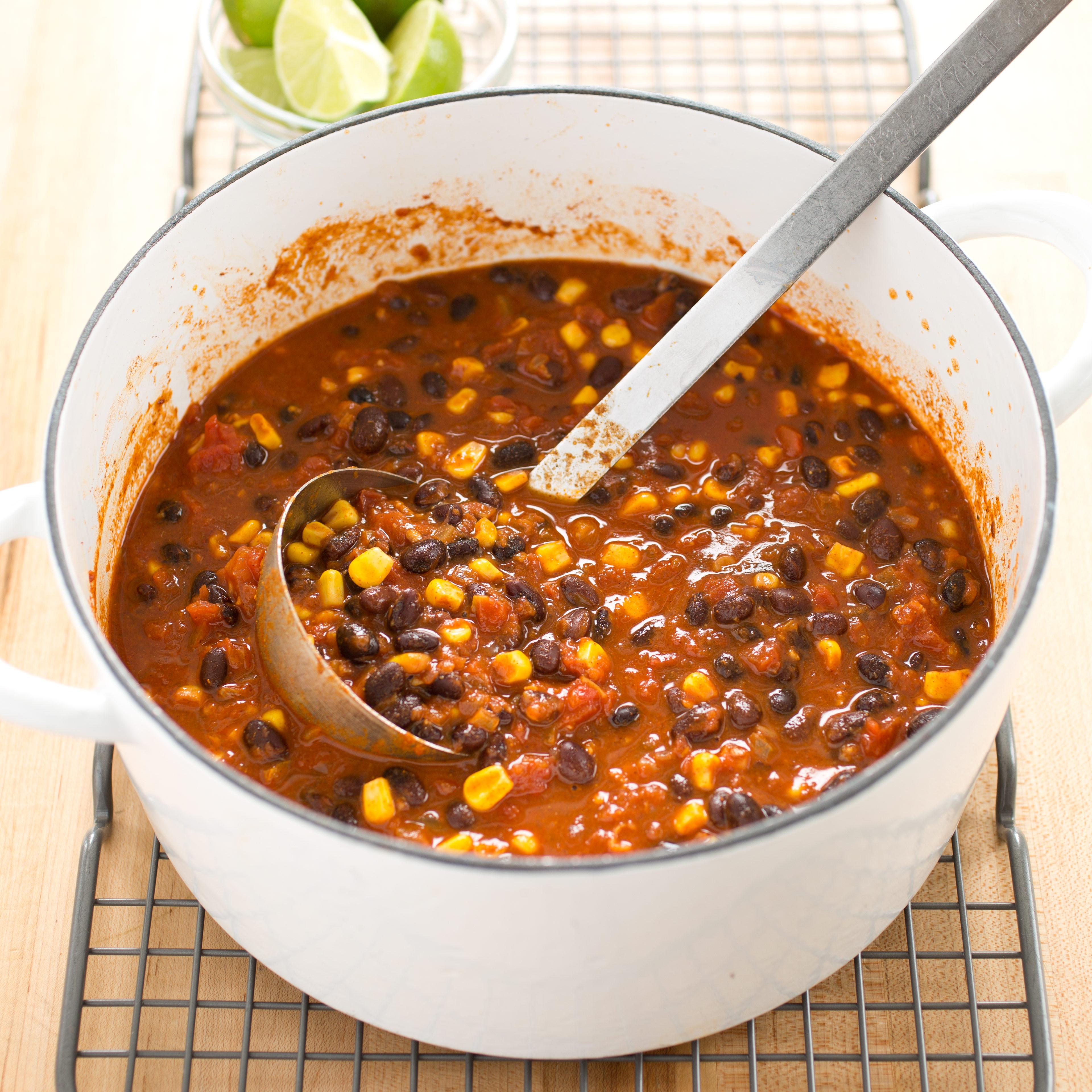 Cooks Illustrated Vegetarian Chili  Light Ve arian Bean Chili