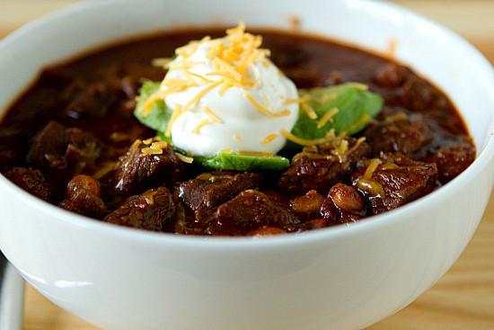 Cooks Illustrated Vegetarian Chili  Favorite chili includes cocoa powder molasses & beer