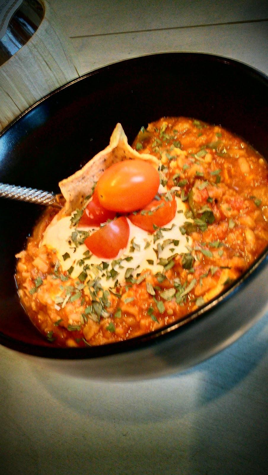 Crockpot Chili Vegetarian  Cousins in the Kitchen Crock Pot Ve arian Chili
