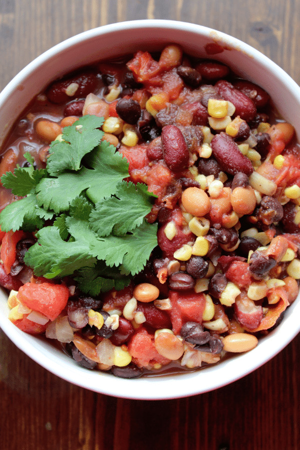 Crockpot Chili Vegetarian  Crock Pot Ve arian Three Bean Chili