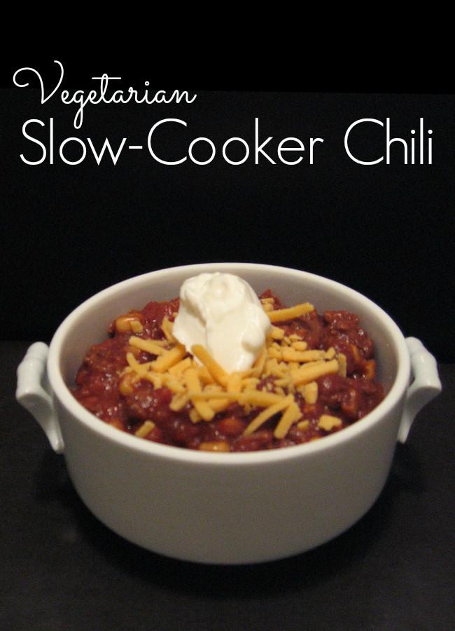 Crockpot Chili Vegetarian  Ve arian Crock Pot Chili Recipe