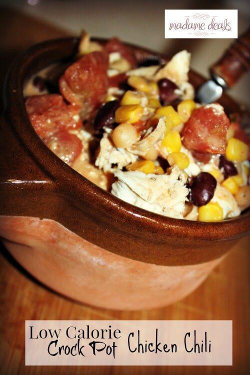 Crockpot Low Calorie Recipes  Low Calorie Crock Pot Chicken Chili Recipe