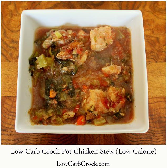 Crockpot Low Carb Recipes  Low Carb Crock Pot Chicken Stew low calorie
