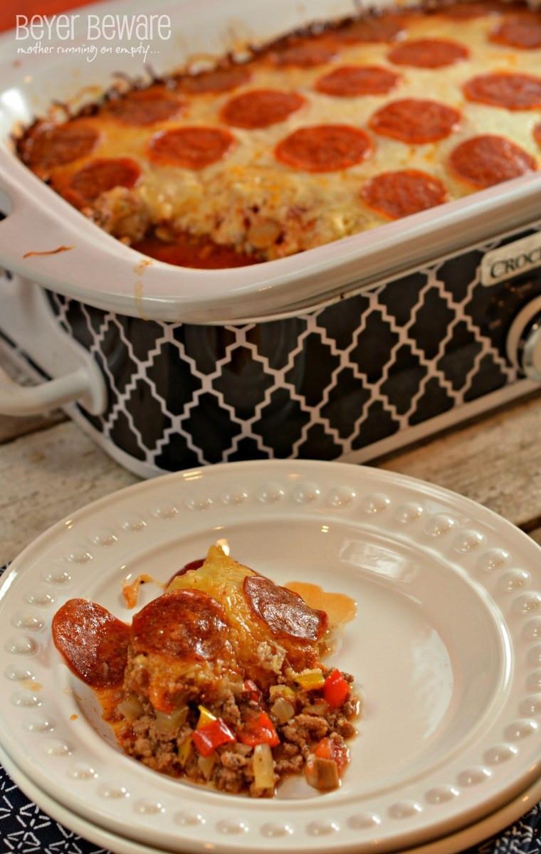 Crockpot Low Carb Recipes  Low Carb Crock Pot Pizza Casserole Beyer Beware