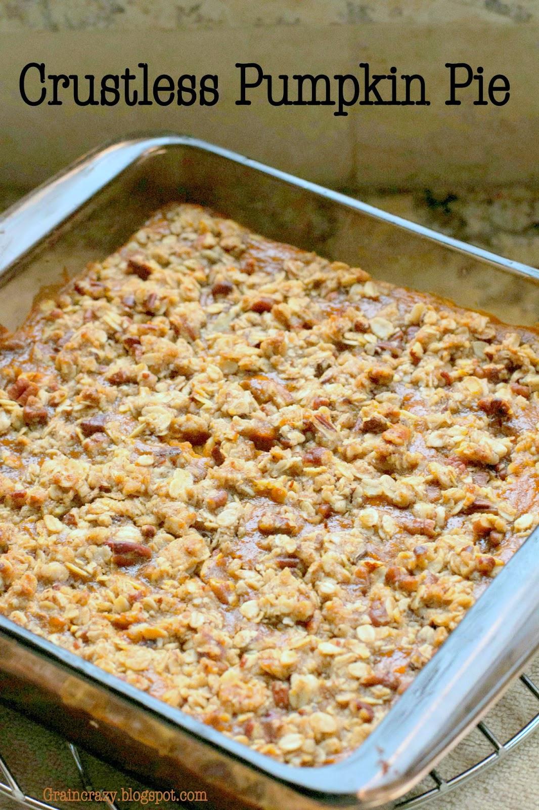 Crustless Dairy Free Pumpkin Pie Grain Crazy Crustless Pumpkin Pie Gluten Free