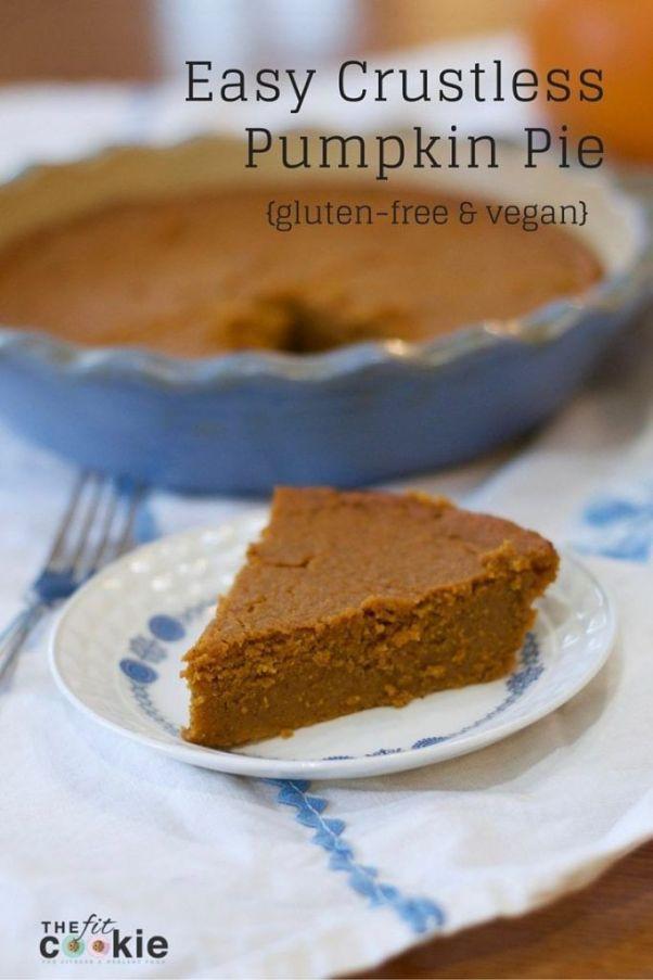 Crustless Dairy Free Pumpkin Pie The Best Allergy friendly Thanksgiving Round Up