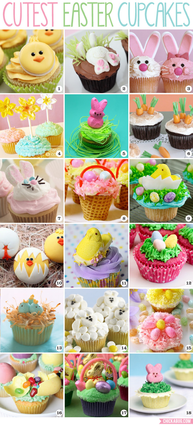 Cute Easter Cupcakes  The cutest Easter cupcakes