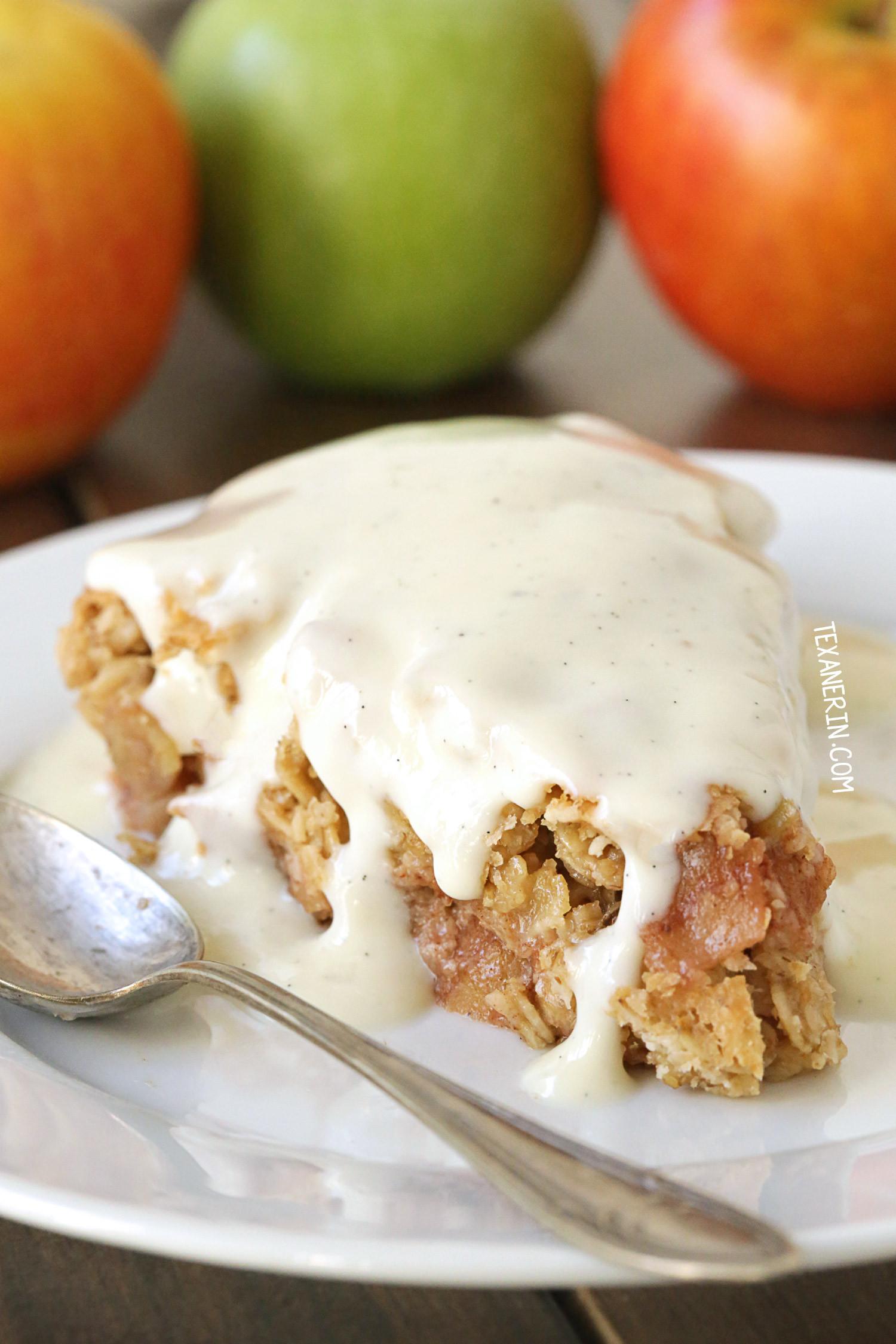 Dairy Free Apple Pie Swedish Apple Pie gluten free vegan whole grain dairy