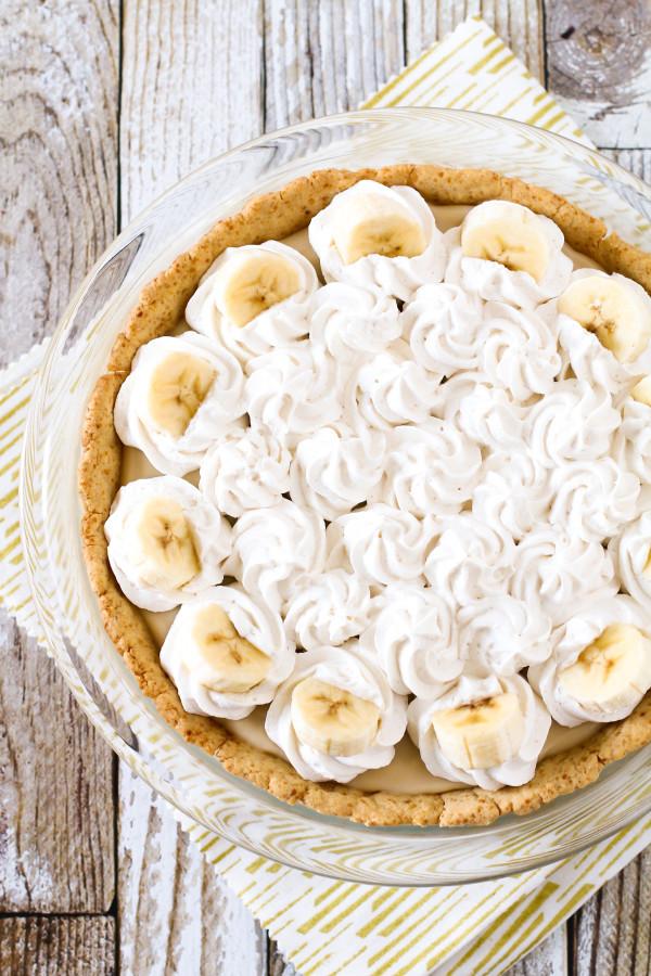 Dairy Free Banana Cream Pie  gluten free vegan banana cream pie Sarah Bakes Gluten Free