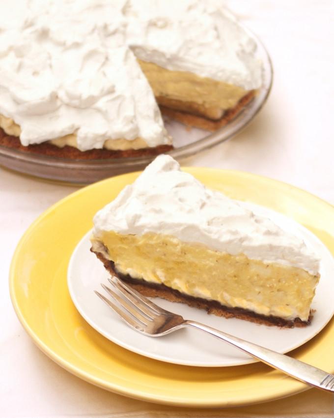 Dairy Free Banana Cream Pie  Banana Cream Pie Lower Carb Gluten Free Sugar Free