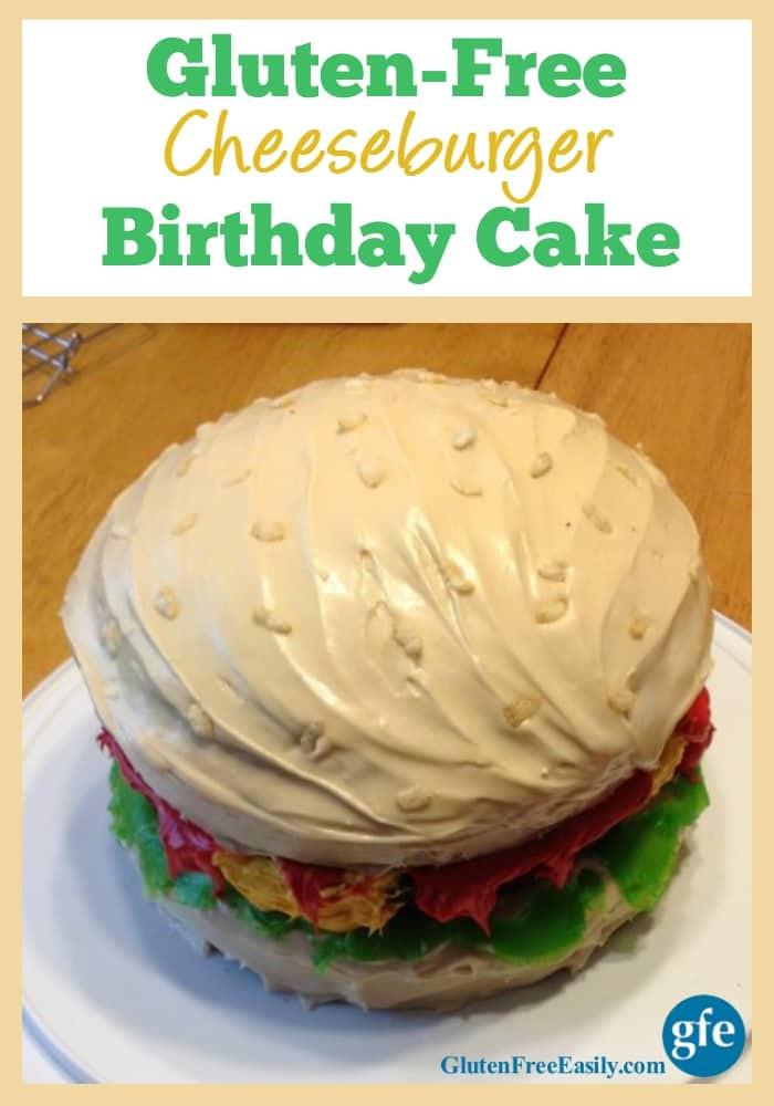Dairy Free Birthday Cake To Buy  Gluten Free Cheeseburger Birthday Cake