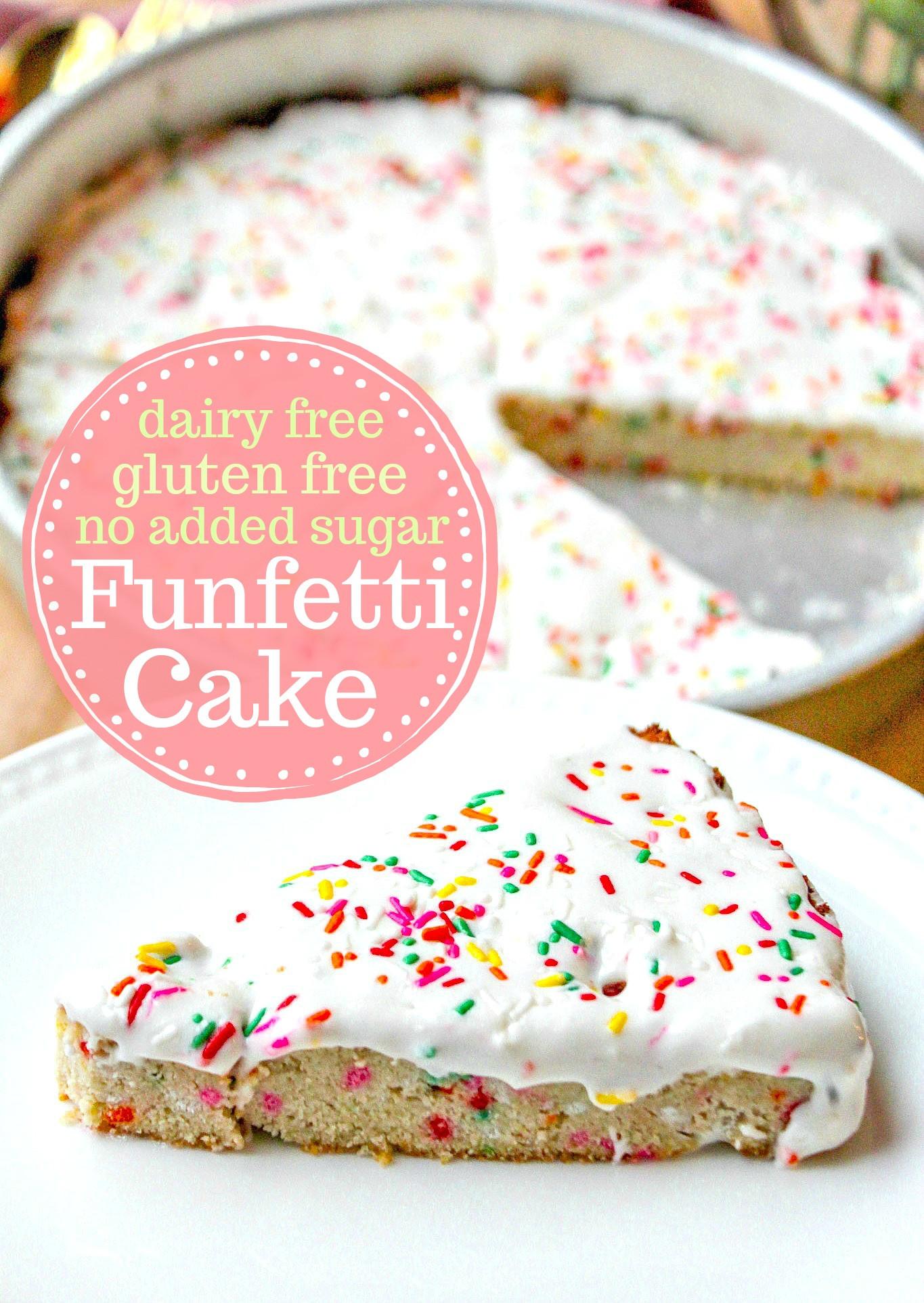 Dairy Free Birthday Cake To Buy  Funfetti Cake Dairy & Grain Free No Added Sugars