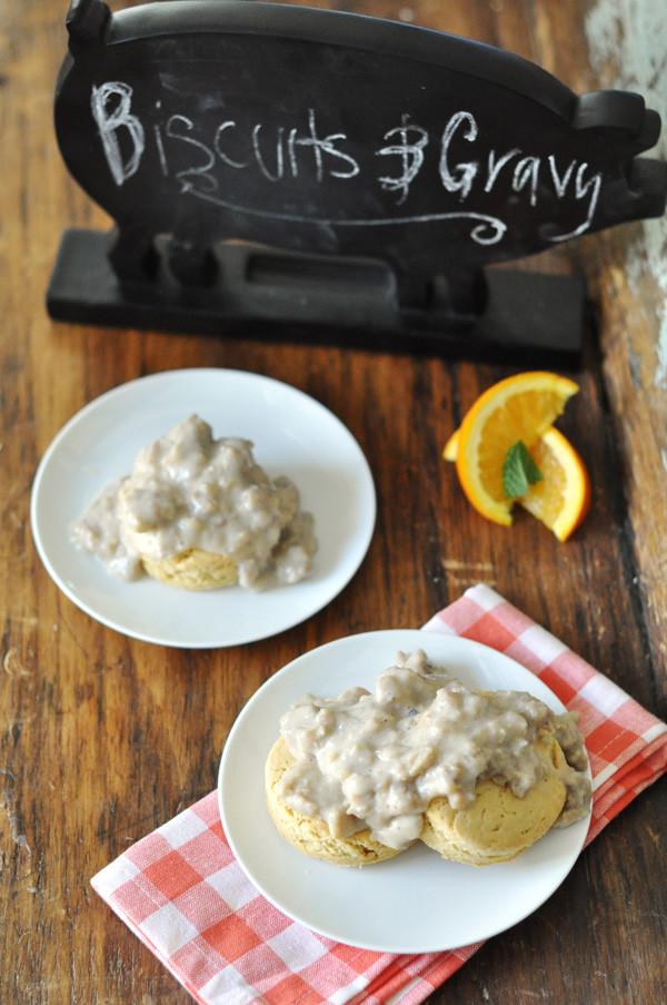 Dairy Free Biscuits And Gravy  Gluten Free & Vegan Option Biscuits and Gravy