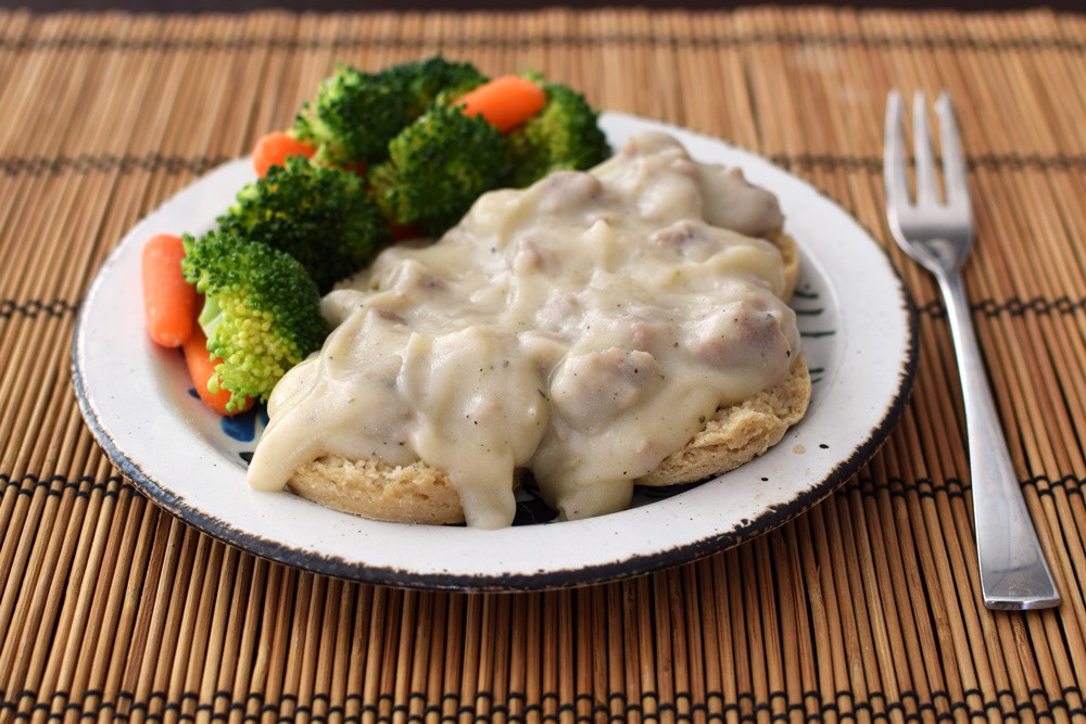 Dairy Free Biscuits And Gravy  Cream Biscuits and Gravy Dairy Free Gluten Free Sneaky
