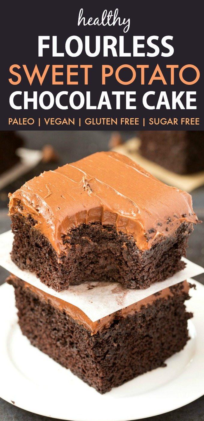 Dairy Free Cake Recipe  Flourless Sweet Potato Chocolate Cake Paleo Vegan