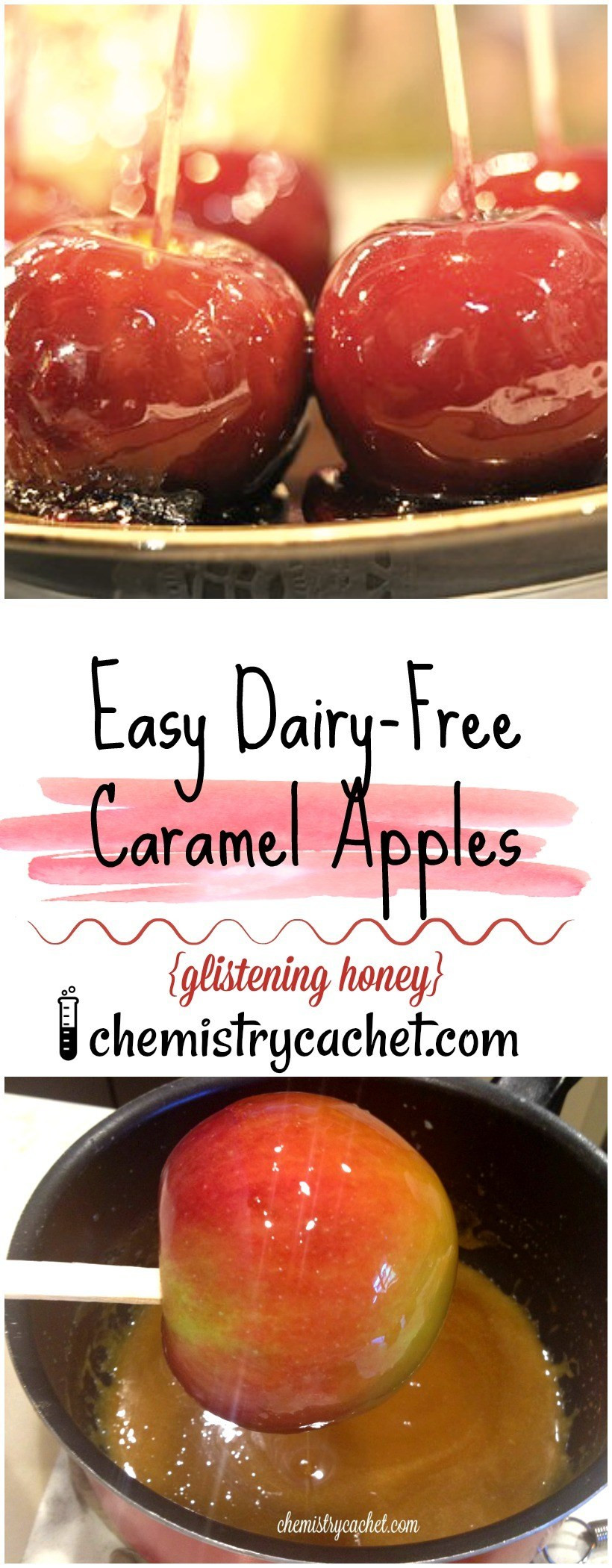 Dairy Free Caramel Apples  Dairy Free Glistening Honey Caramel Apples & Regular