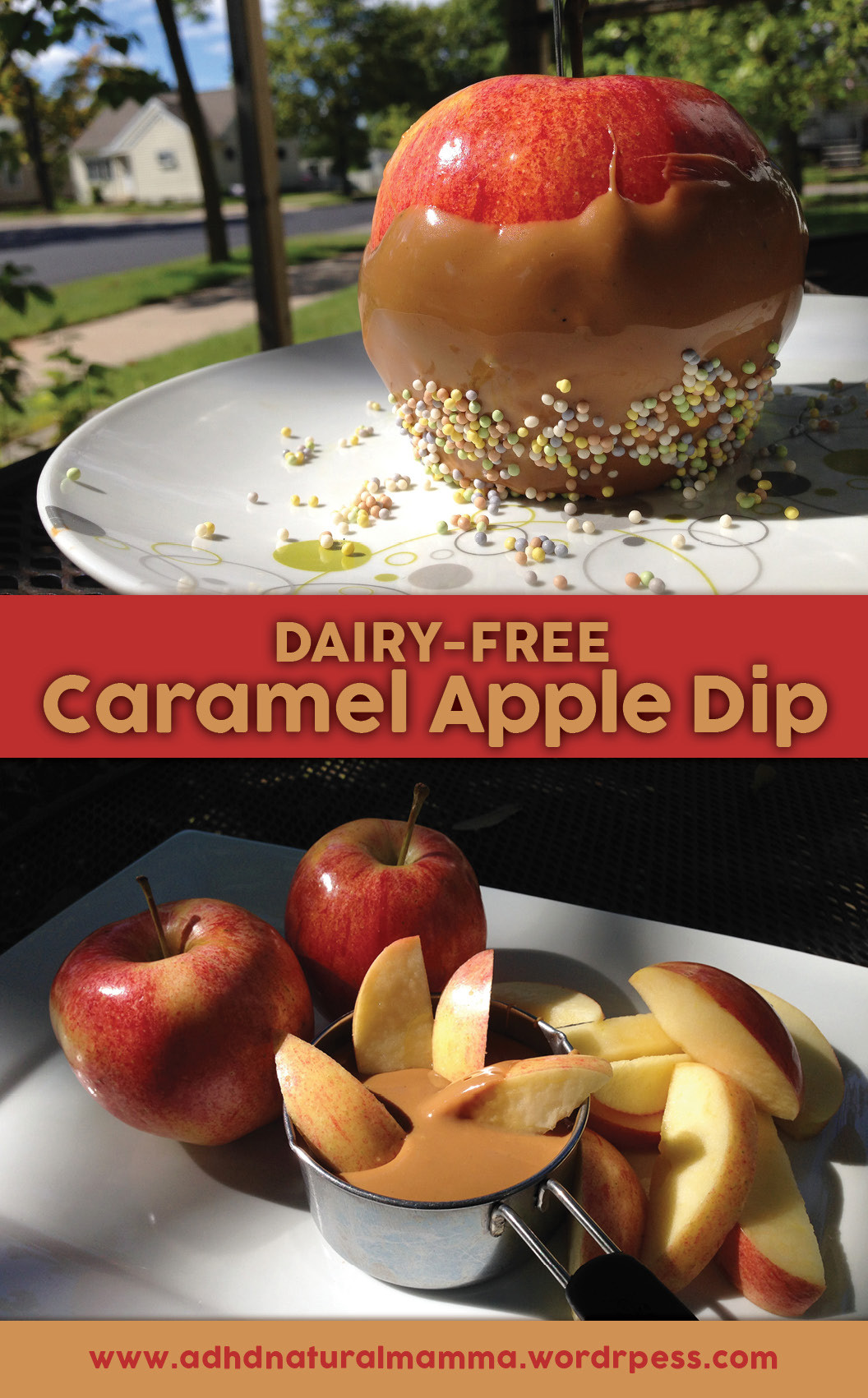 Dairy Free Caramel Apples  Dairy free Caramel Apple Dip – ADHD Natural Mamma