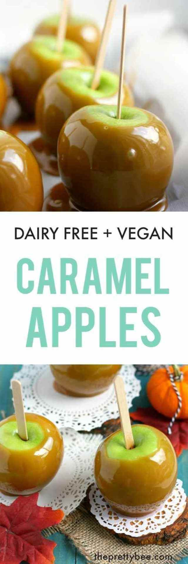 Dairy Free Caramel Apples  Dairy Free Caramel Apples The Pretty Bee