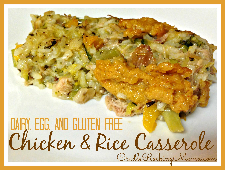 Dairy Free Chicken And Rice Casserole  Dairy Egg & Gluten Free Chicken & Rice Casserole