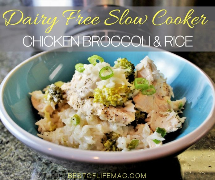 Dairy Free Chicken And Rice Casserole  Slow Cooker Chicken Broccoli and Rice Casserole