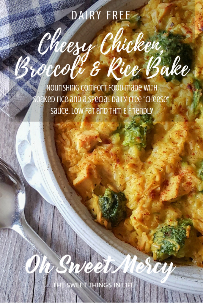 Dairy Free Chicken And Rice Casserole  Dairy Free Cheesy Chicken Broccoli and Rice Bake