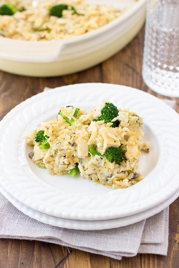 Dairy Free Chicken And Rice Casserole  Dairy Free Chicken Broccoli & Rice Casserole Gluten Free