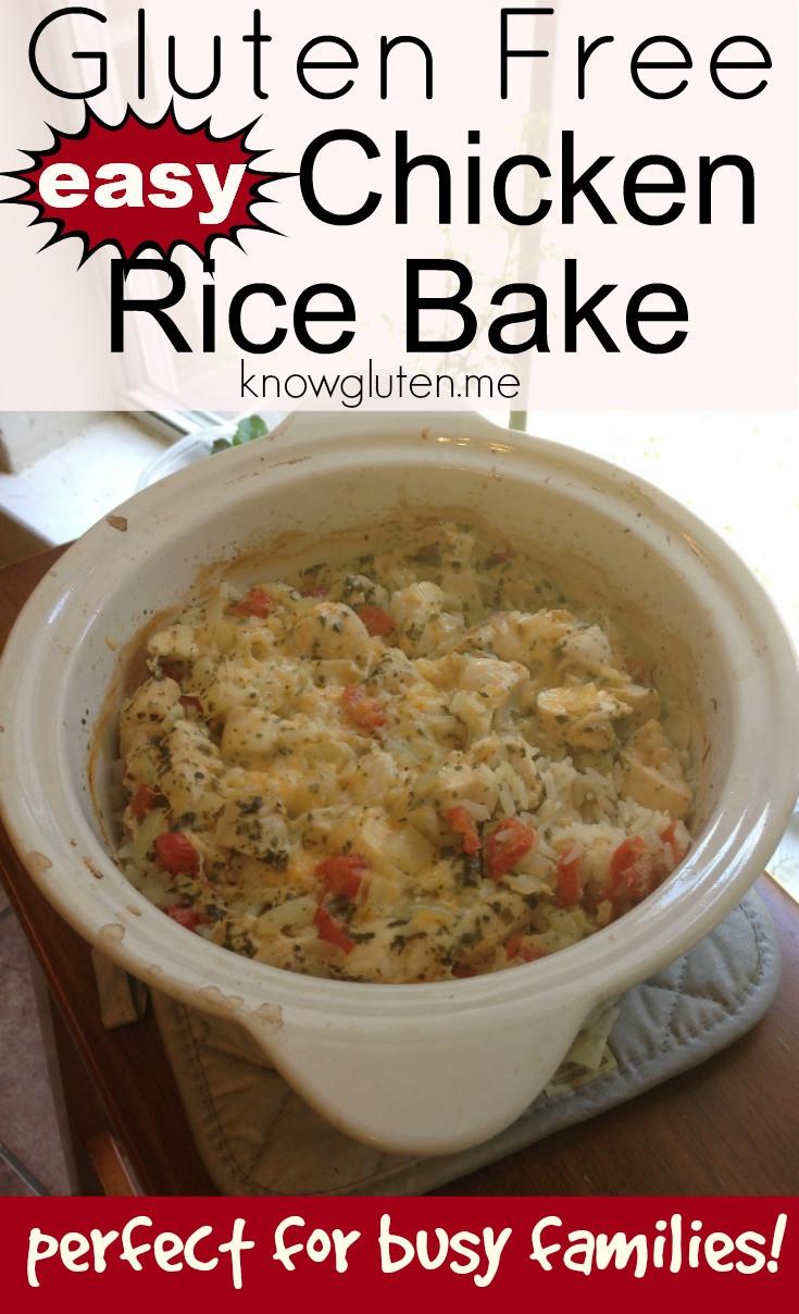 Dairy Free Chicken And Rice Casserole  Gluten Free Chicken Rice Bake know gluten