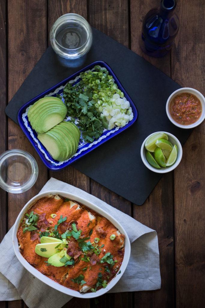 Dairy Free Chicken Enchiladas Dairy Free Chicken Enchiladas with Chipotle and Bacon